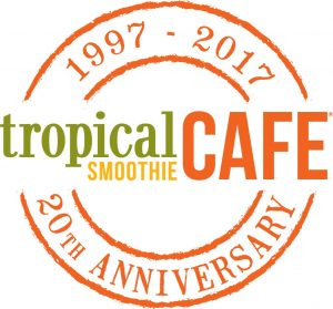 Tropical Smoothie Cafe 20th Anniversary logo