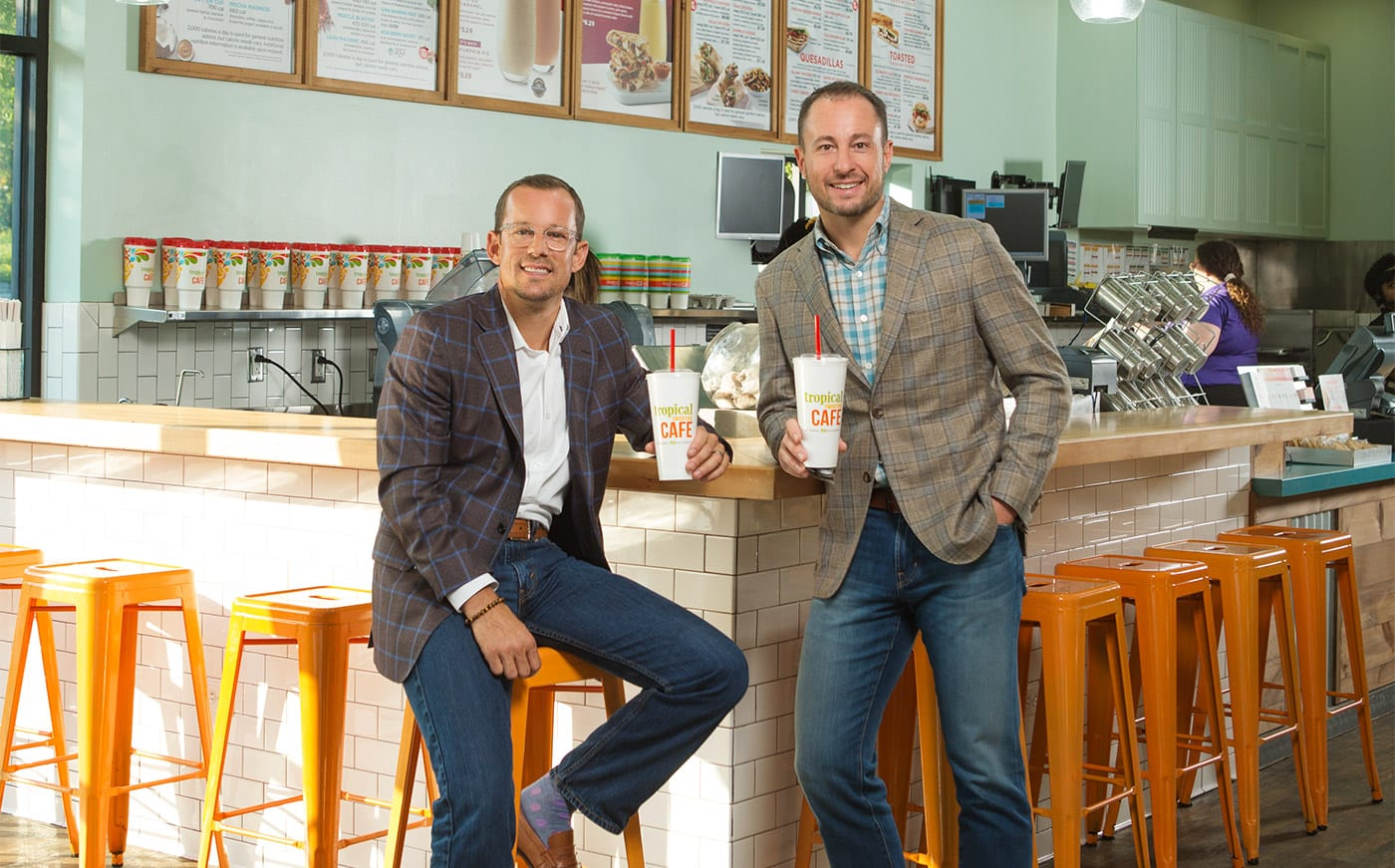 Multi-unit franchise owners Glen Johnson and Nick Crouch