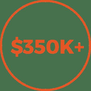 $350+ icon