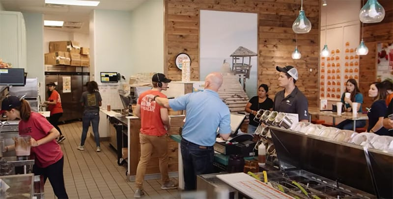 Busy Tropical Smoothie Cafe franchise
