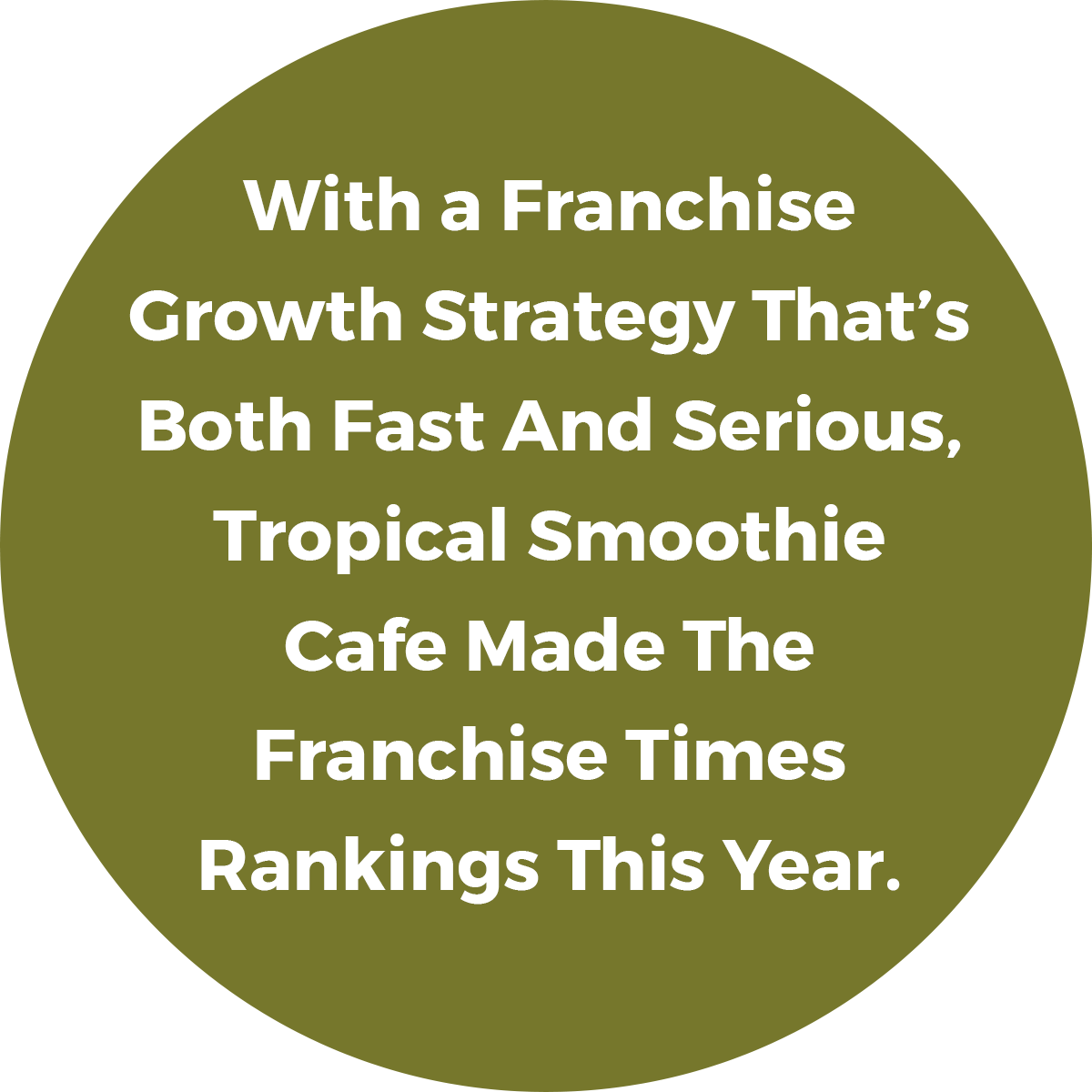 With A Franchise Growth Strategy That's Both Fast and Serious, Tropical Smoothie Cafe Made The Franchise Times Rankings This Year.