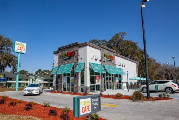 tropical smoothie cafe exterior building