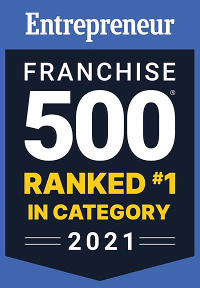 Entrepreneur Franchise 500 Ranked in Category 2021
