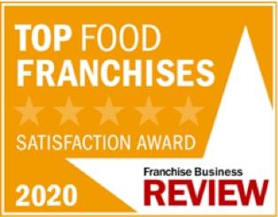 Top Food Franchises Satisfaction Award 2020